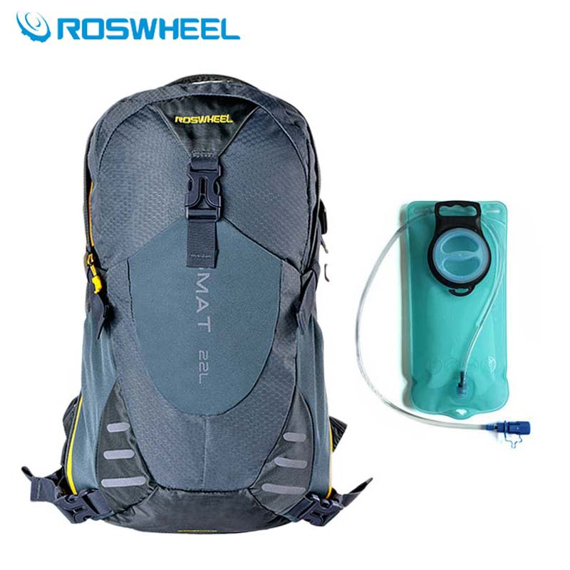 ФОТО ROSWHEEL Outdoor Climbing Bags 22L Men Women Camping Hiking Sports Water Bags Hydration Cycling Backpacks Rucksack Eastpack 2016