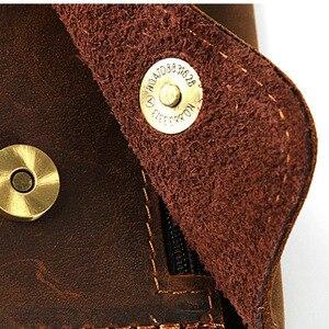Image 4 - Männer Dokument Tasche Mini Echtem Leder Rindsleder Kleine Beutel Dokument Datei Halter Für Business Travel Tragbare Werkzeug