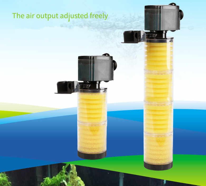 Baru 3 In 1 Aquarium Filter Multifungsi Pump 3300 A B C Tangki Ikan 4 Lapisan Filter Aquarium Internal Filter 39 Cm Tinggi