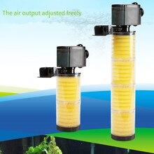Nuevo 3 en 1 Bomba de filtro multifunción para acuario 3300 A B C pecera 4 capas filtro interno acuario 39cm de alto
