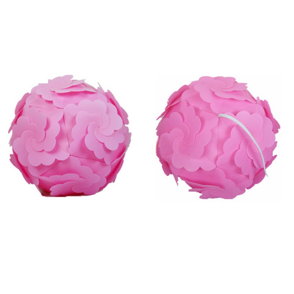 New wholesale price princess pink candy color flower lampshade diy new wholesale price princess pink candy color flower lampshade diy iq pendant light dia 30cm plastic material lamp shade in lamp covers shades from lights mightylinksfo