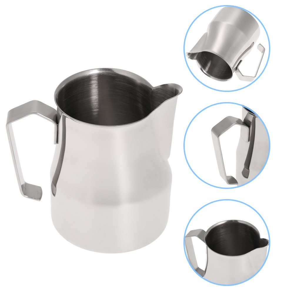 Realand 350/550ml Thick 18/8 Stainless Steel Italian Espresso Latte Art Milk Frothing Pitcher Steaming Jug Milk Foam Container