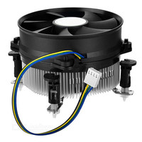 Aluminum PC CPU Cooling Fan Cooler 4Pin PWM CPU Fan Double Platform Radiator Processor Cooler Heatsink