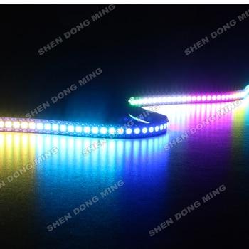1เมตรDC5Vมีความยืดหยุ่นledริบบันด์144 leds/m 144IC/mในตัวIC WS2812นำแถบพิกเซลเปลี่ยนสีRGBนำแถบดิจิตอล5050