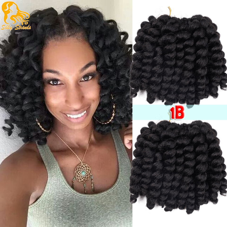 6 Jumpy Wand Curl Braids Hair Jamaican Bouncy Crochet