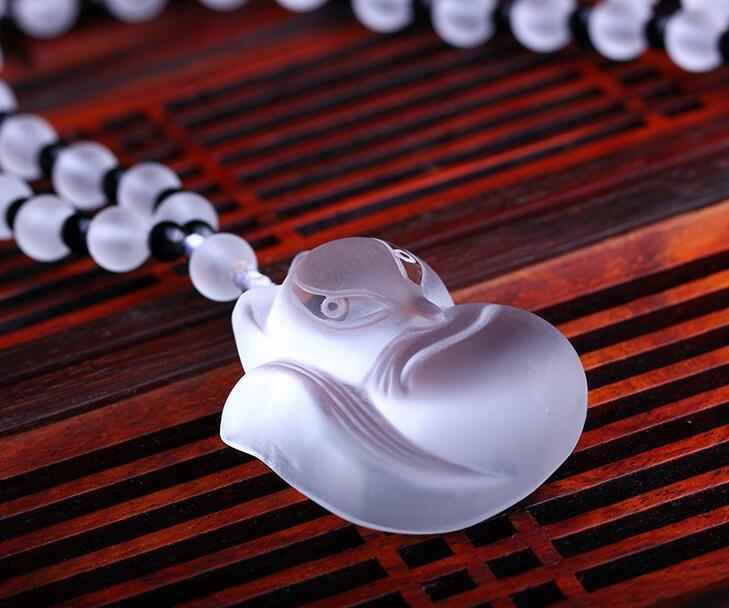 Chinesische Handarbeit Naturkristall Handgeschnitzte Glücksfuchs - Wohnkultur - Foto 4