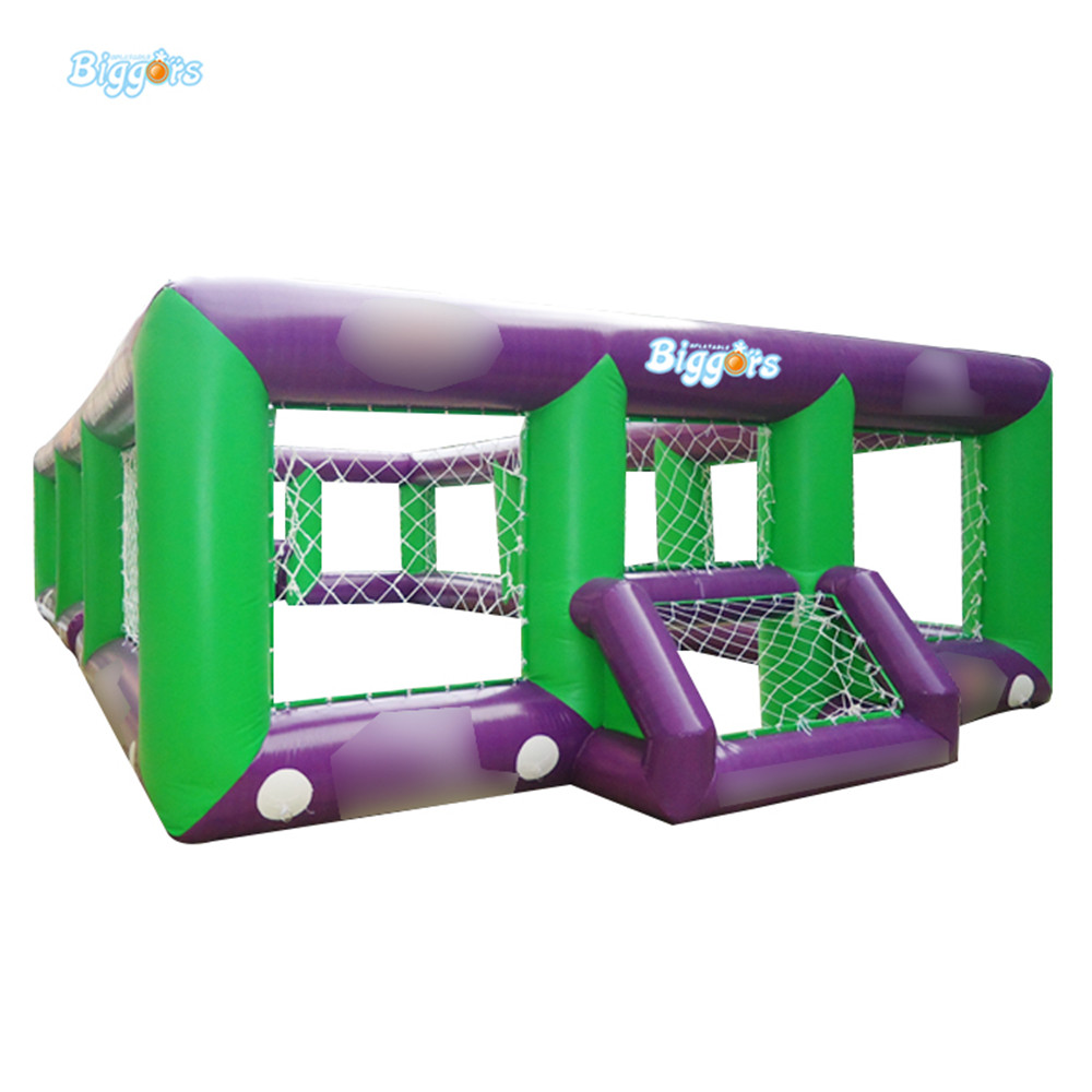 Sea Shipping Giant Commercial Inflatable Kids Soccer Court Football Field With Blowers купить