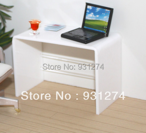 Acrylic Laptop Desk/Perspex,Plexiglass,Lucite Laptop Table/Coffee Side Table/Acrylic Furniture hot sale c shaped waterfall acrylic occasional side table