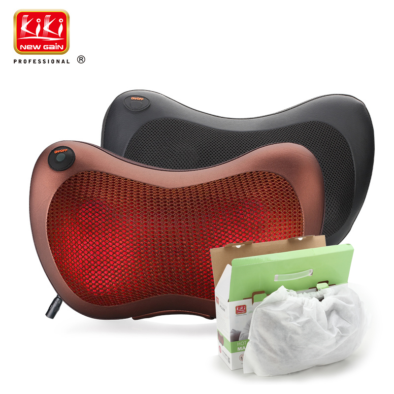 KIK NEWGAIN Home car dual-use multifunction dish massager car massage pillow cervical lumbar leg massager body massager shoulder