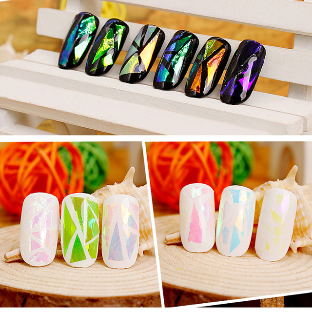 US $1.7 |LUOLLOVE 2pc Nail Transfer Foil 6x21cm 50 Colors Diy Nail Art  Custom Nail Full Cover Nails Stickers Foil-in Stickers & Decals from Beauty  & ...