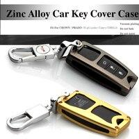 3D Kim Loại car key trường hợp Chains key bag key trường hợp bìa xe biểu tượng Chìa Khóa Trường Hợp Đối Với Toyota thái Prado highlander Camry Carolla Levin