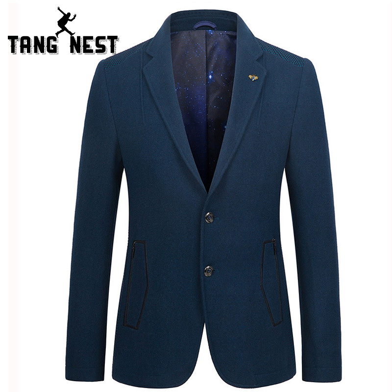 TANGNEST Spring Autumn Fashion Blazer Masculino Casual Slim Single Breasted Men Blazer Hot Sale Business blazer MWX379 ...