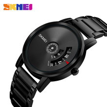 SKMEI Simple Style Fashion Men Quartz Watch Luxury Creative Steel Band Waterproof Casual Mens Watches Relogio Masculino