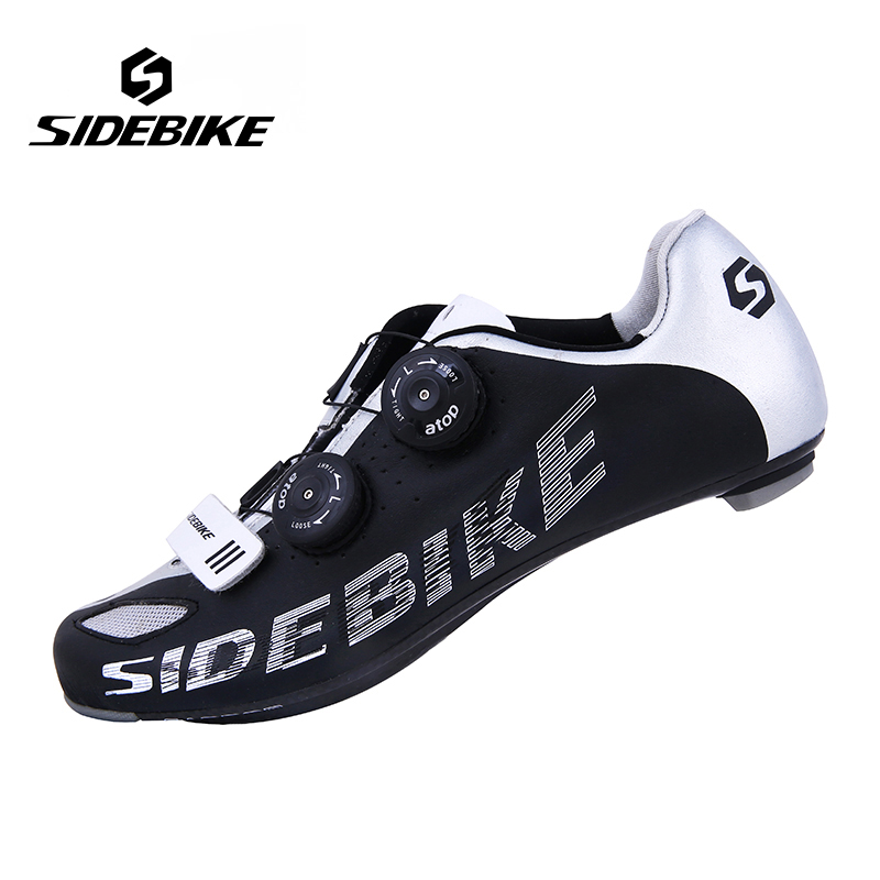 Sidebike Men Carbon Fiber Road Cycling Bike Shoes Breathable Bicycle Shoes Ultralight Self Locking Zapatillas Zapato Ciclismo