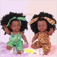 цены 35cm Newborn Reborn Doll Baby Simulation Soft Vinyl Children Cheap Toys Sleeping Accompany Calm Doll Gift