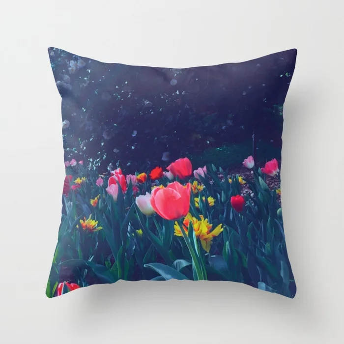 Astounding Spring Is Here Print Throw Pillowcase Beautiful Polyester Flowers Cushion Covers Pillow Cover For Couches Evergreenethics Interior Chair Design Evergreenethicsorg