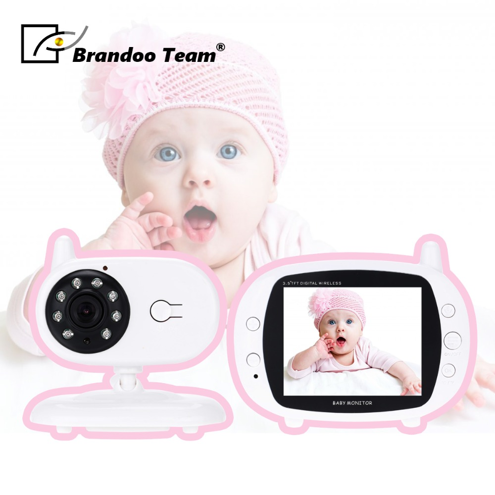 Baby Monitor 3.5 inch LCD IR Night Vision 2 way Talk Temperature monitor video nanny radio babysitter baby sleeping monitor night vision 2 way talk lullaby temperature monitor 2 4 inch lcd digital wireless nanny radio babysitter
