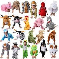 Cartoon Children Kids Animal Costume Cosplay Clothing Dinosaur Tiger Elephant Halloween Animal Costume Jumpsuit For Boy