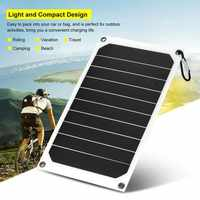Portable 10W IP64 Waterproof Solar Panel Mobile Power Charger 5V USB Powerful Charging CLH@8