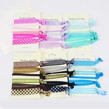 6PCS/Set Girls Elastic Hair Band Pattern Ponytail Holder Bracelets Ornaments Women Silk Cloth Knotted Headwear Accessories