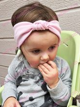 free shipping 120pcs Children tie hair band Knitted Cotton Elasticity Baby Headband European and American Hair Wholesale(China)