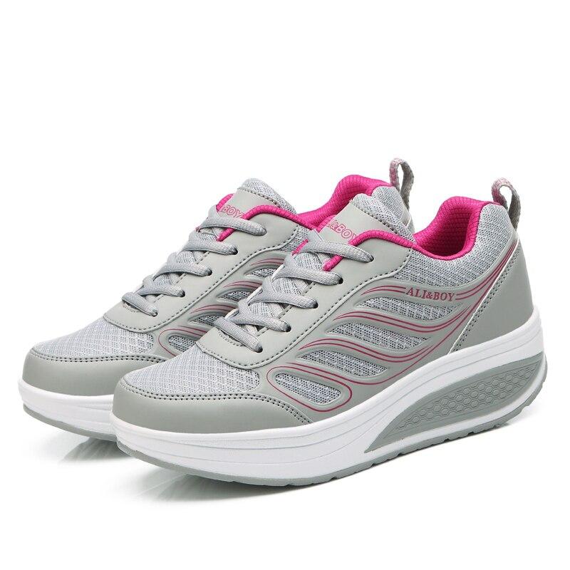 cb585109b Дышащий Для женщин обувь для ходьбы воздуха внутри женская спортивная обувь  Легкий Фитнес корзины Спорт femme