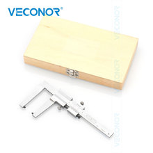 VECONOR Brake Disc and Type Depth Gauge Vernier Caliper 0 60mm 0.1mm Brake Pad Wear Thickness Measuring Ruler Claw Length 50mm