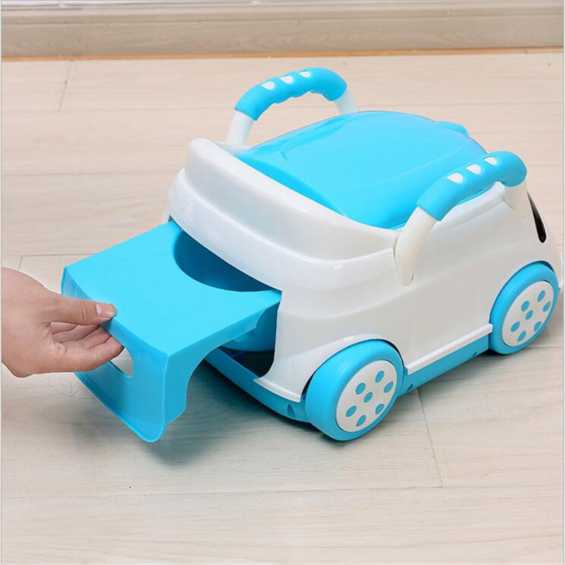 Cute Bebe Camping Car Portable Potty Child Cartoon Toilet Seat Kids Pinico WC Toilets For Boys & Girls Baby Potty Training Free 11