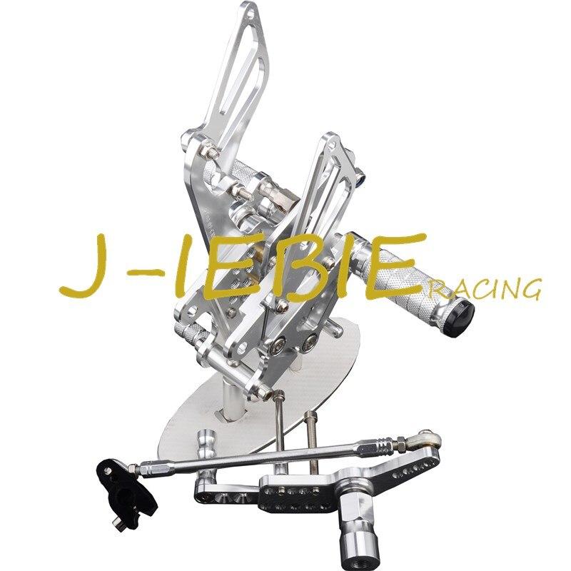 CNC Racing Rearset Adjustable Rear Sets Foot pegs Fit For Honda CBR1000RR 2008-2015 SILVER titanium cnc aluminum racing adjustable rearset foot pegs rear sets for yamaha mt 07 fz 07 mt07 fz07 2013 2014 2015 2016
