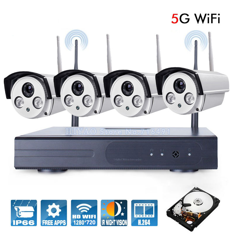 New Listing  Plug and Play Wireless NVR Kit P2P 720P HD Outdoor IR Night Vision Security IP Camera WIFI CCTV System  HDD  anran plug and play 4ch security camera system wireless nvr kit p2p 720p hd outdoor ir night vision cctv ip camera system