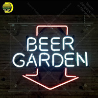 NEON SIGN For Beer Garden Lamp tattoo display Real GLASS Tube Decorate hotel Handcraft Advertise custom neon light with board