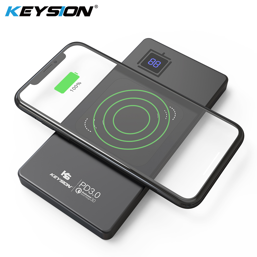 Keysion 10000Mah Metallic Kind-C Pd/qc3.zero Energy Financial institution 15W 10W 7.5W Quick Qi Wi-fi Charger Battery For Iphone Xs Max Xr Mate 20 Professional