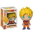 10 cm Funko Pop Modelo de Dragon Ball Z Super Saiyan Goku PVC Animación Figura de acción de Recogida de Juguetes Niños Mejores Juguetes Vienen Con la Caja
