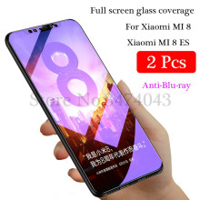 2Pcs/lot 9H Tempered Glass for Xiaomi Mi 8 MI8 lite SE Screen Protector Full Cover Glass For Xiaomi Mi 8 8SE Protective Film(China)