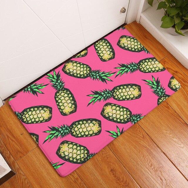 CAMMITEVER Pineapple Orange Non Slip Fruits Floor Rug For Bedroom ...