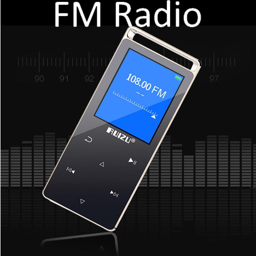 Orijinal RUIZU D01 Dokunmatik Ekran Mp3 çalar 8 GB Pedo Metre Okuma - Taşınabilir Ses ve Görüntü - Fotoğraf 3