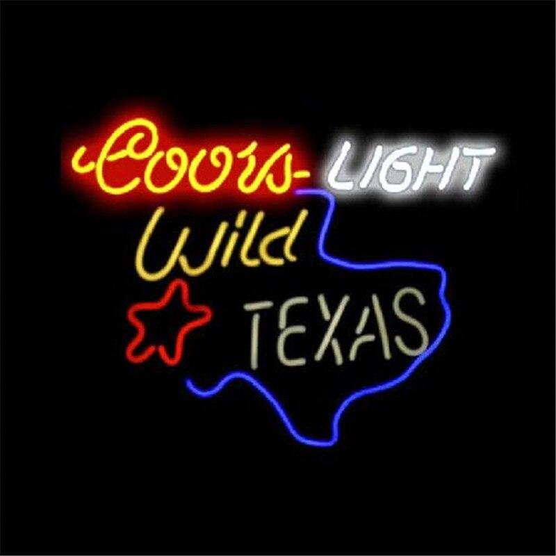"""17*14\"""" COORS LIGHT WILD IN TEXAS outdoor NEON SIGN"""