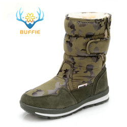 أحذية الرجال الشتاء الأحذية الدافئة التمويه سنوبوت حجم صغير إلى أقدام كبيرة شعبية تصميم جديد الفراء نعل الذكور نمط شحن مجاني 41