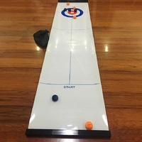 Table Curling Board Game for Travel Bar family School Training Kids' Game Toys Curling 28*120cm,1 Table Cloth & 8 Balls