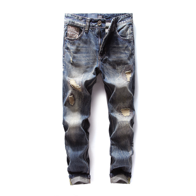 9d14aaaa594f1 Original New Hot Sale Fashion Men Jeans Dsel Brand Straight Fit Ripped Jeans  Italian Designer Distressed Denim Jeans Homme!704-3