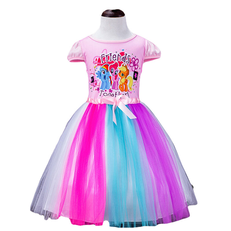 The new girls pony polly color gauze dress girls princess dress children show 3-12 Y гель для умывания nivea nivea ni026lwbbz85