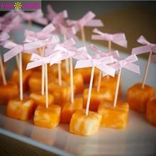 24 pcs Bowknot Toppers Cupcake Primo Buon Compleanno Decorazioni Festa Per Bambini Della Ragazza del Ragazzo Mio 1st Un Anno di Forniture Appena Sposato da sposa