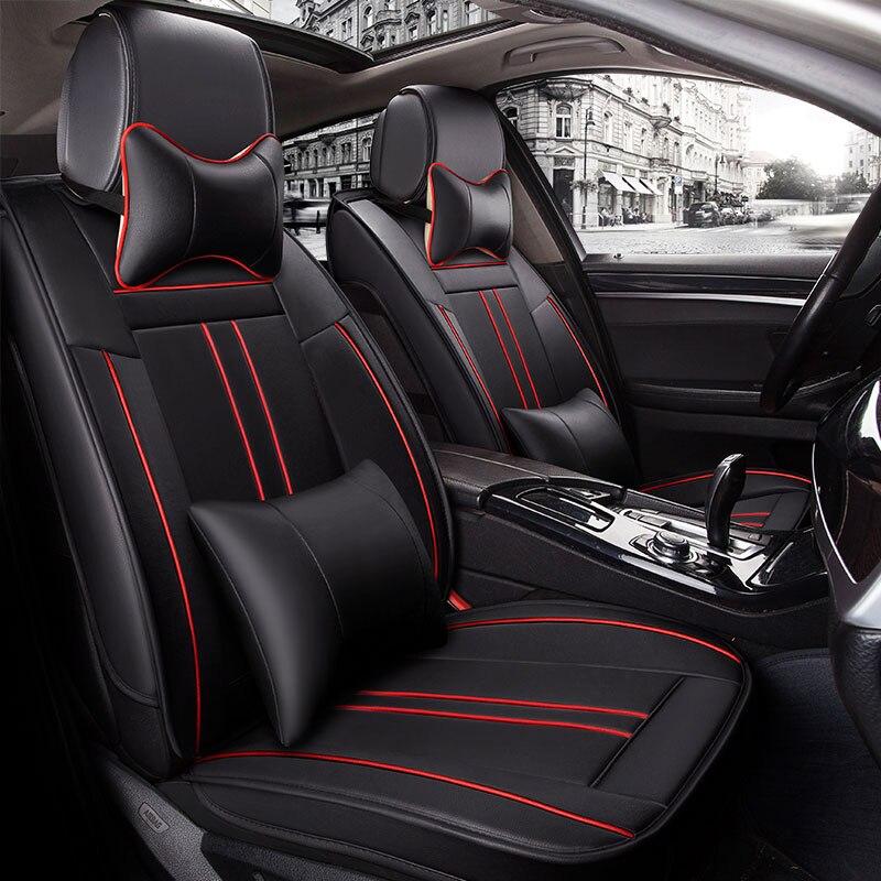 Leather car seat cover seats covers auto accessories for ALFA 147 156 159 166 romeo giulietta Giulia Stelvio MiTo 2017 2016 2015