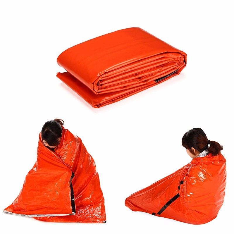Camping & Hiking 1*2m Good Deal Reusable Emergency Waterproof Survival Silver Foil Camping Sleeping Bag Sports & Entertainment