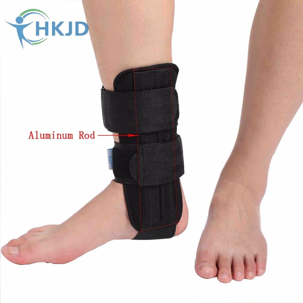 Removable Adjust Band Aluminum Ankle Support Brace Foot Guard Sprains Injury Wrap Elastic Splint Strap Sports