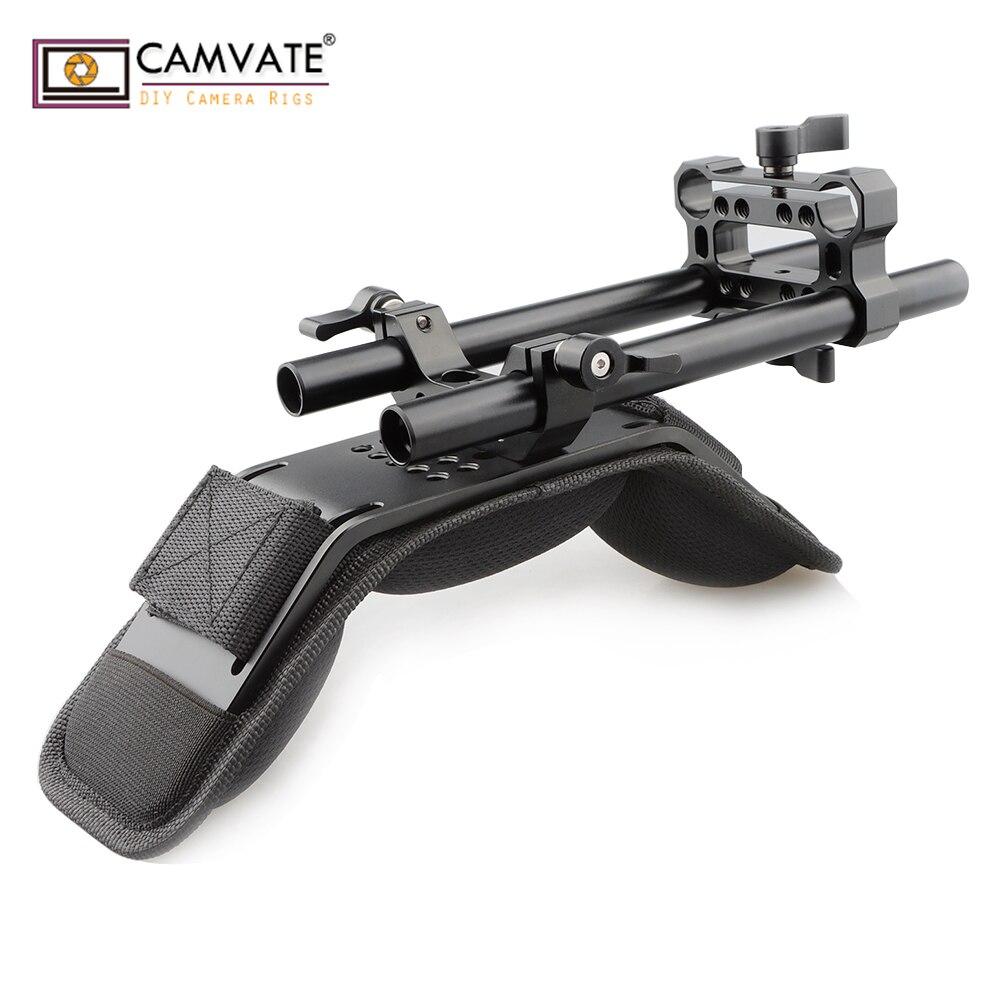 CAMVATE meilleur pas cher dslr caméral stabilisateur d'épaule plate-forme C1764 caméra photographie accessoires