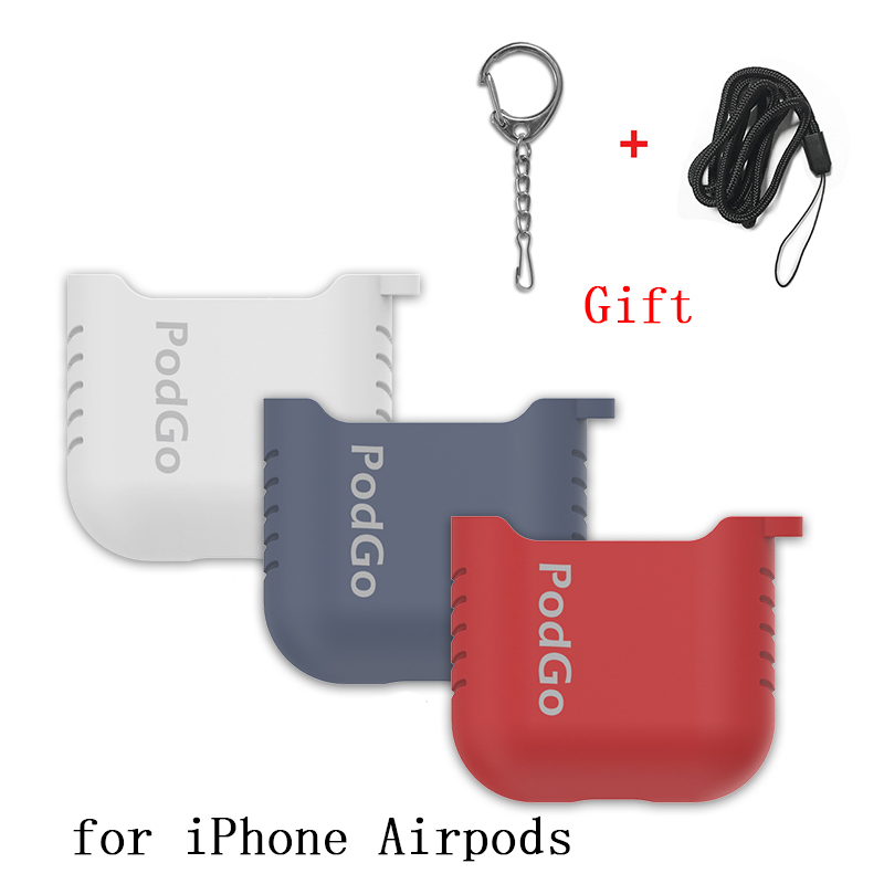 Bluetooth Wireless Earphone Case For Apple AirPods TPU Silicone Charging Headphones Cases for Airpods Protective Cover with Gift