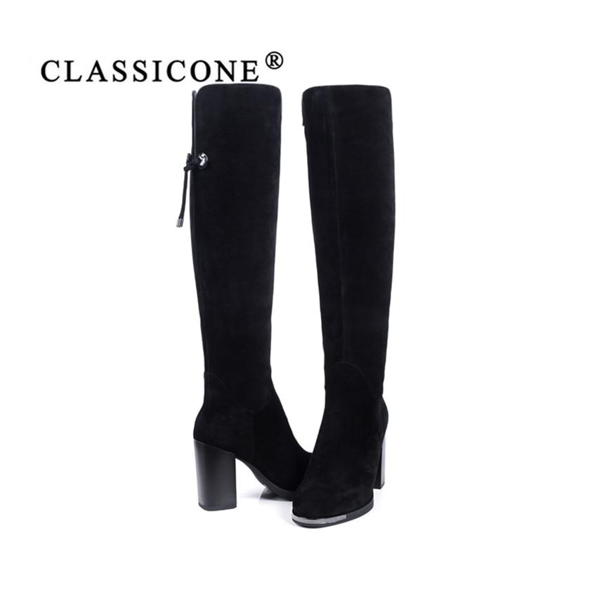 Es Cuero Classicone2018 Resbaladizo Zapatos Interior Negro Lana Genuino De Caliente Invierno Marca Piel No Moda Botas Mujer Suela Tacones Altos UwrqnxU