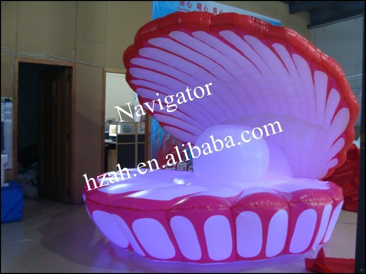 Lighted Inflatable Shell for Wedding Decoration wedding decoration inflatable column led lighted inflatable column