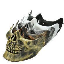 b5d2f4b05ad4 Halloween Cosplay Guerrier masque Effrayant Crâne Squelette Masque De Haute  Qualité PVC Moitié Inférieure Du Visage Masque .